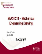 MECH 211 - Lecture 8