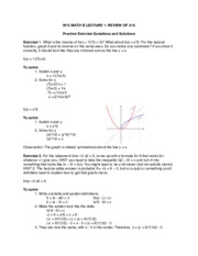 MAT 21B: MAT 21A Review Problems with Answers (derivatives, limits, linearization, etc.)