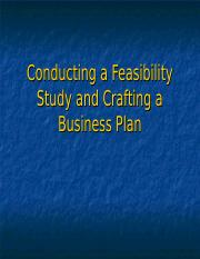 Conducting a Feasibility Study and Crafting a Business.ppt