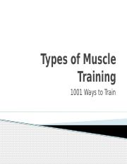 Types of Muscle Training.pptx