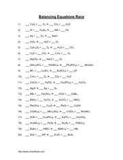 Worksheets Chemfiesta Balancing Equations Worksheet write the chemical formulas for following compounds a chem 202 4 pages july2000