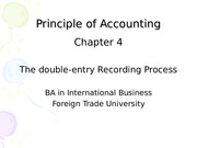 Chapter 4 Double-entry recording process