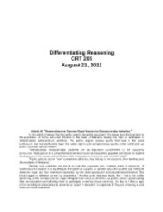 Differentiating Reasoning