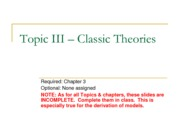 Topic III - Outline %28ECON313 Winter 2012%29