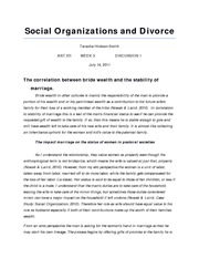 ANT.101, WK3, DS1 Social Organizations and Divorce