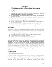 International Marketing for Exam - best