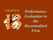 ch13 Performance Evaluation in the Decentralized Firm
