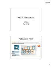 Lecture 9 WLAN architectures