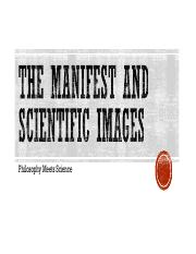 The Manifest and Scientific Images