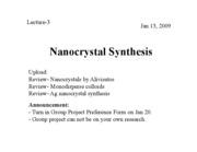 3 Nanocrystal Synthesis