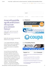 Amazon Supply - a significant moment in corporate procurement history_ - Spend Matters UK_Europe Spe