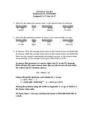 FINANCE 332.101 HW#6 ANSWERS