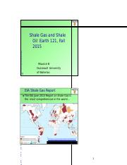 Lecture 13- Shale Gas and Shale Oil
