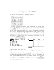 MAC2233 Linear Regression