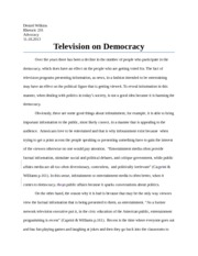 PP6 Television on Democracy_Paper_graded