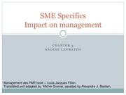 Chapter 3 - Impact on management