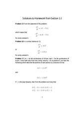 Homework 1 on Differential Equations