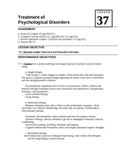 37 LessonTreatment of Disorders