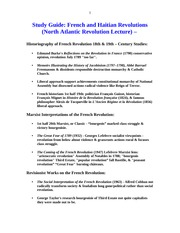 STUDY GUIDE HIST 104 FRENCH AND HAITIAN REVOLUTIONS (1)
