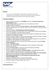 SAP Professional Resume