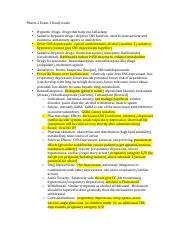 Pharm 2 Exam 1 Study Guide.pdf