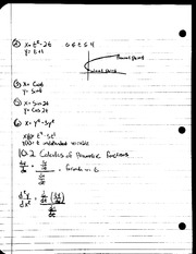MAT 241 - Notes 10.2 Calculus of Parametric Functions