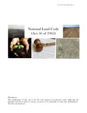 National Land Code
