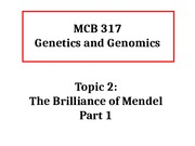 MCB317 Topic 2 Part 1 The Brilliance of Mendel Sp16.pptx