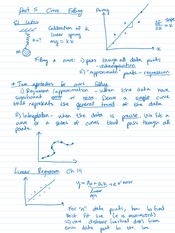 Curve Fitting Notes