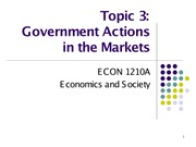Topic 3. Government Actions in the Markets