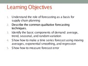 Chapter 3 Forecasting Lecture Slides