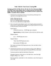 NS102 Lavalli -  Study Guide for Team Exam 2 (4-15-08)