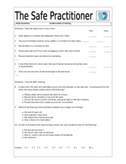 Safety Needs Study Questions