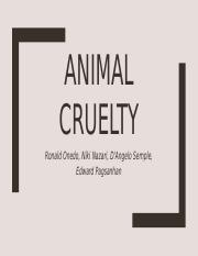 Animal Cruelty crim 110