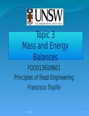 03 Mass and Energy Balances