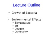 MCB301 Fall 2014 Lecture Handout 4 Sept 26 Growth Curve and Environmental Effects