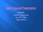 Health Issues Presentation