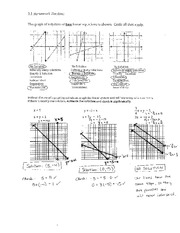 Linear Equations Solutions
