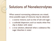 Nonelectrolytessolution