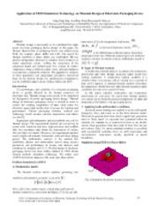 Application of FEM simulation technology on thermal design of electronic packaging device