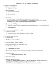 Chapter 31- Outline Germanna 2008