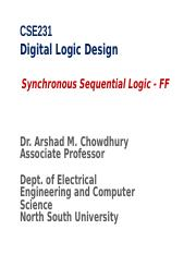 CSE231-class8-Synchronous Sequential Logic and Flip Flop.ppt
