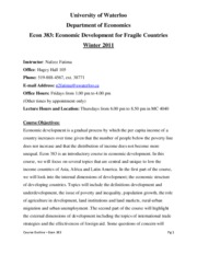 Course Outline-Econ 383