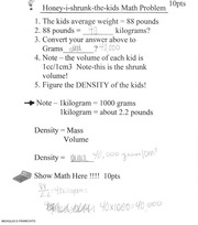 Honey I Shrunk the Kids-Math Practice
