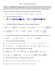 Math111 – Final Exam Review Sheet - PDF Vers
