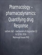 Pharmacology Lecture-1&2 Quantifying drug response-4