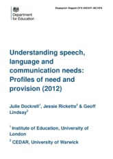 Understanding speech, langauge and communication needs