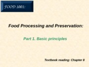 7a. Food Processing - Basic Principles