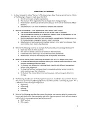 Organization and Management - Fall 2012 Exam