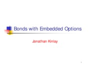 Bond Trading 1999 - Bonds with Embedded Options